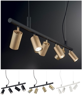 Bar Suspension Pendant with Adjustable Lampheads