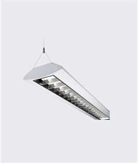 suspended lighting. exellent suspended twin fluorescent fitting  surface mounted or suspended  intended lighting