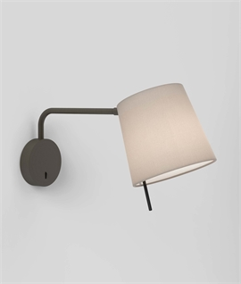 Swing Arm Bedside Wall Light - Great for Readers