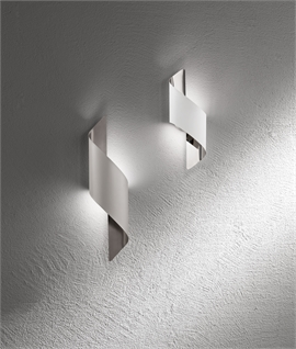 Swirled Metal LED Wall Lights