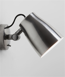 Switched Single Adjustable Spotlight in 3 Colours