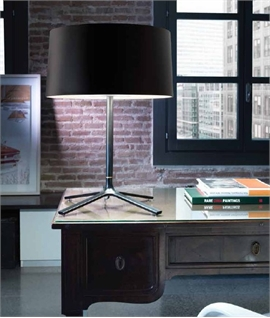 Large Lounge Table Lamp - White or Black with Diffused Shade