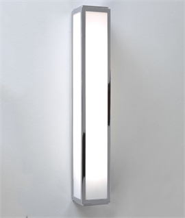 Square Bathroom Light Wall Or Ceiling Mounted In Halogen Or Led