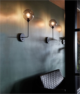 Molecule Mouth-Blown Glass Tall Wall Light - 6 Colours