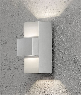 Dual Light LED Exterior Wall Light - Two Styles