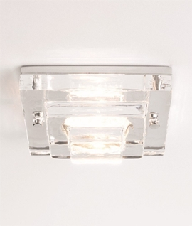 Soda Glass Square IP65 Downlight - Low Voltage