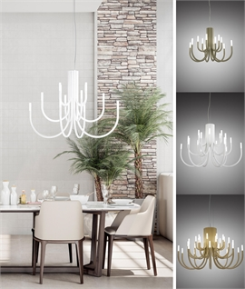 A Thoroughly Modern Classic - Palm a LED Chandelier in three sizes