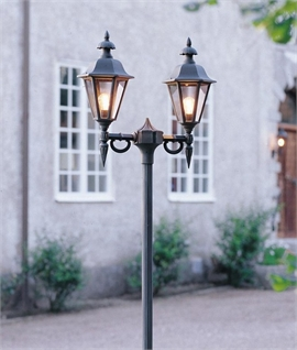 Stylish Exterior Twin Lamp Post