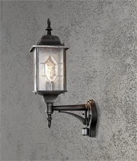 Exterior pir sensor wall light lighting styles traditional exterior pir lantern aloadofball Gallery