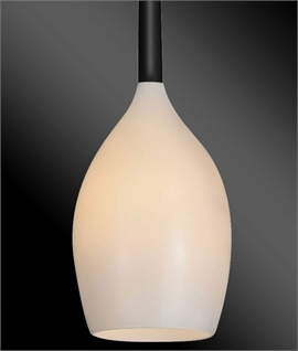 Single Teardrop Glass Pendant Light in 4 Colours