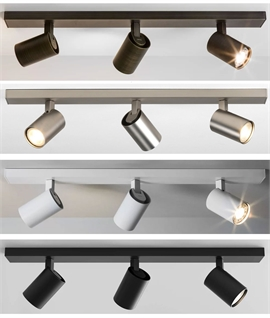 Triple Modern Adjustable Spot Light Bar - 4 Finishes