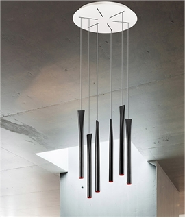 Tubular LED Pendant 2.4m Long Drop