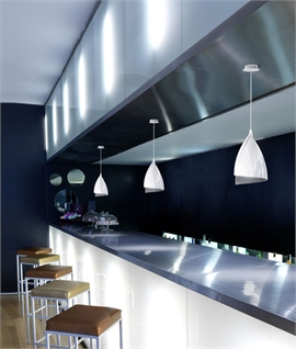 Tulip Pendant Light Consisting of Overlapping Pieces