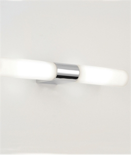 Polished Chrome Twin Wall Light IP44 Rated