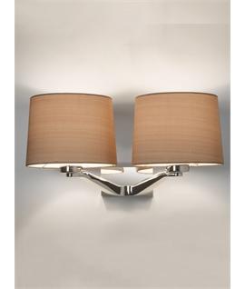 Twin Elegant Wall Bracket Light In Chrome