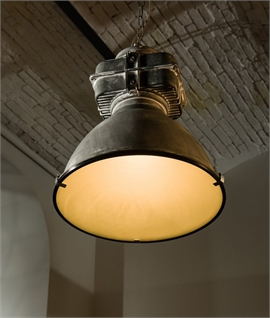 Holophane Styled Large Industrial Light Pendants - 3 Colours