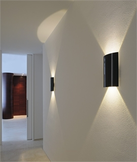 Wall washing lights up down light distribution for Interior design lighting uk