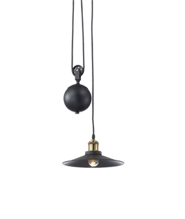 Black & Antique BRass Rise & Fall Pendant