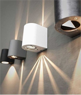 Exterior GU10 Wall Light with Adjustable Filters - IP44