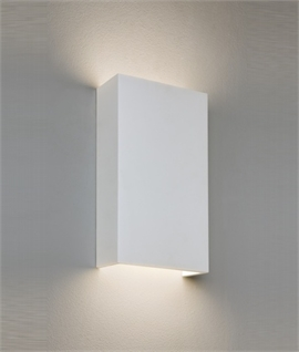 LED Square Plaster Wall Light - Energy Efficient