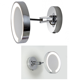 Finest Round Illuminated Vanity Mirror - Fully Adjustable