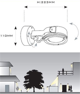 Stylish and Low Energy Exterior Floodlight