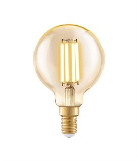 E14 60mm Golf Ball LED Filament Lamp - 4 Watts 2200k