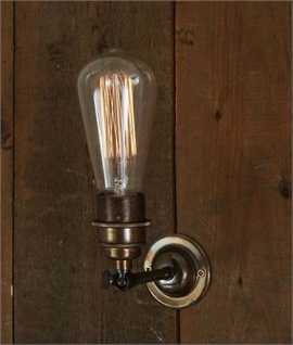 Minimalist Vintage Wall Light - Bare Bulb