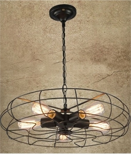 Vintage Fan Pendant Light - LED Lamps