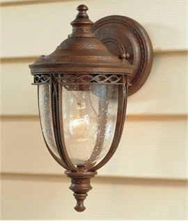Traditional Bronze Wall Lantern - 4 Sizes
