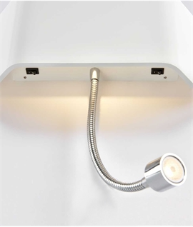 LED Flush Wall Light with Adjustable Reading Light