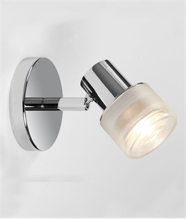 Adjustable Chrome Single Spot Bathroom Light