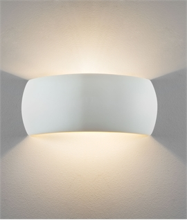 Contoured Plaster Wall Light for Up & Down Wall Washing
