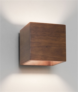 Wooden Wall-Washing Up Down Light in Walnut