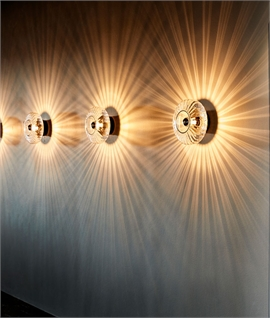 Starburst Decorative Glass Wall Light in Two Sizes
