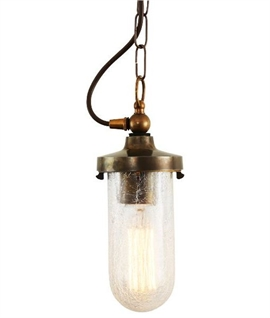 Antique Style Well Glass Light Pendant - Choice of Finishes and Glass Type
