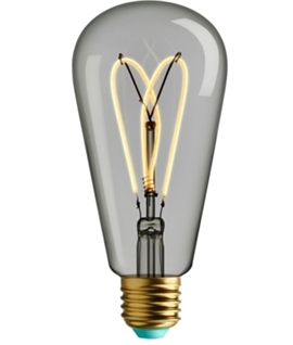 E27 4w LED WattNott Whirly Willis Heart Filament Lamp