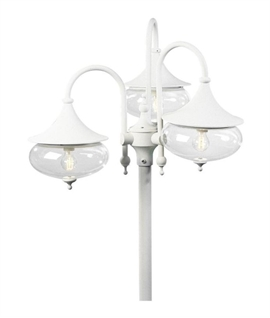 Lamp posts for commercial spaces lighting styles classy curvy triple head lamp post aloadofball Gallery
