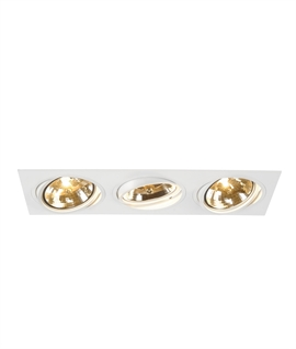 Adjustable Rectangular Triple Recessed Fitting