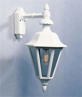 Stylish Hanging Exterior Lantern White or Black
