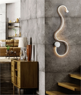 Slim Profile LED Swirl Wall Light Height 940mm
