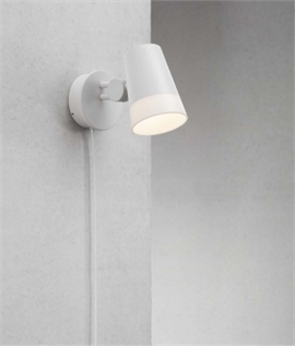 Trailing lead rise wall lamp adjustable led wall light with dimmer dial aloadofball Gallery