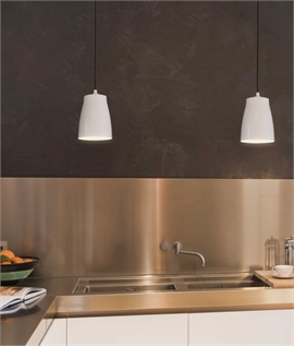 Aluminium Light Pendants With Black Cord Set - 3 Finishes