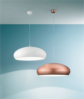 Dome Rippled Pendant Dia 600mm