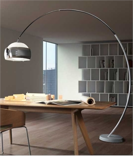 flos arco floor lamp with marble base. Black Bedroom Furniture Sets. Home Design Ideas