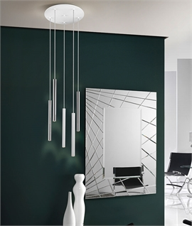LED Tubular Pendant - 5 or 9 Light Option
