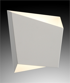 Asymmetric Wall Light - Black or White