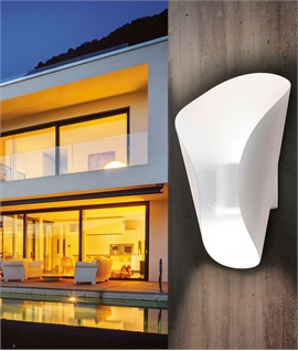 Curved LED Outdoor Up and Down Wall Light
