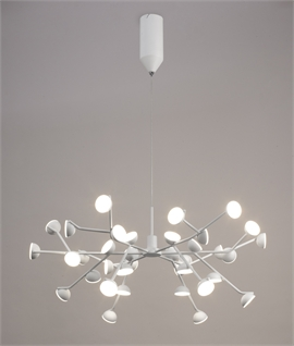 LED White Multi Lamp Pendants