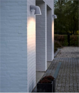 Exterior Downward Lit Wall Light - Funnel Design